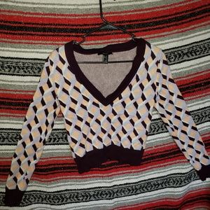 Forever21 70s inspired cropped sweater